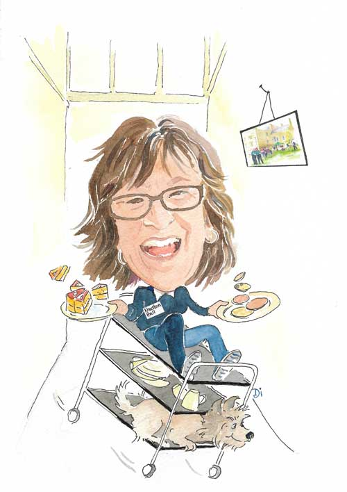 Caterer. Caricature by Di Lorriman