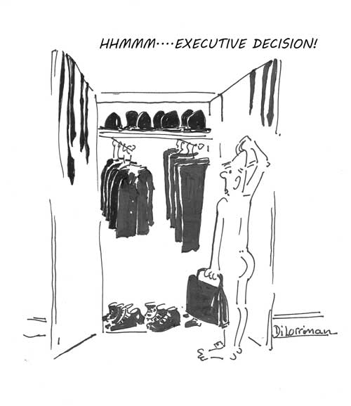 Executive Decision. Illustration by Di Lorriman
